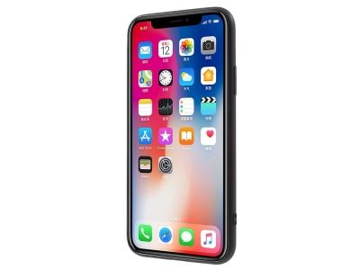 Силиконов Калъф релеф за iPhone X -  White Background and Rose