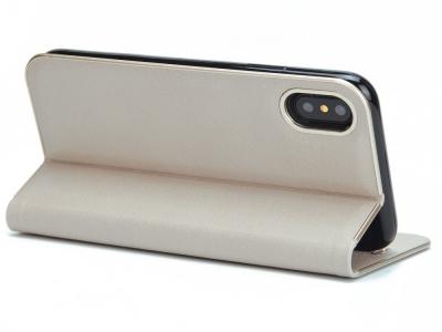 Калъф Тефтер Magnetic Leather за iPhone X / 10, Сив