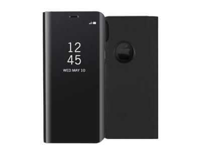 Калъф тефтер огледален Leather за iPhone X 5.8 inch, Черен