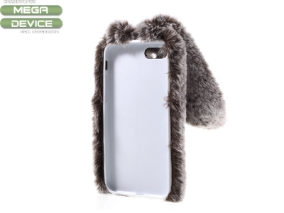Силиконов гръб  Пухкаво зайче за iPhone 8 / iPhone 7 4.7 inch , Кафяв