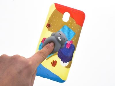 Силиконов гръб 3D Squishy  силиконово коте на Плаж за Samsung Galaxy J7 2017 J730