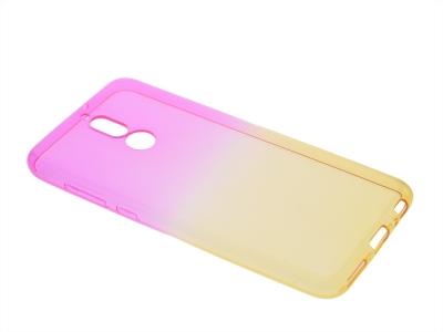 Силиконов гръб OMBRE за Huawei Mate 10 Lite ,Розов/Златист