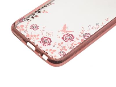 Калъф гръб силикон Forcell Diamond за Huawei Mate 10 Lite, Розов/Златист