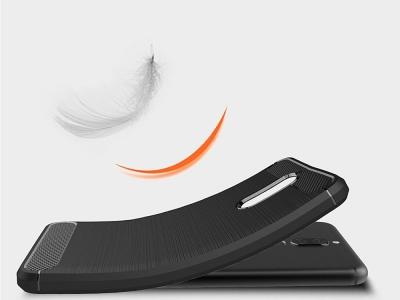 Силиконов гръб Carbon за Huawei Mate 10 Lite, Черен