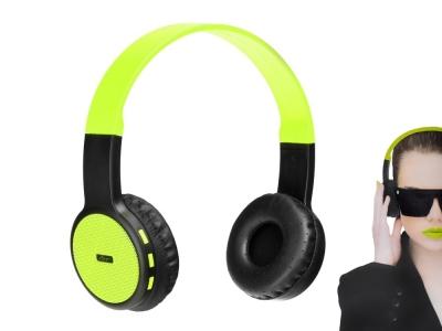 Слушалки Bluetooth стерео с микрофон AP-B05 , Черен/Лимон