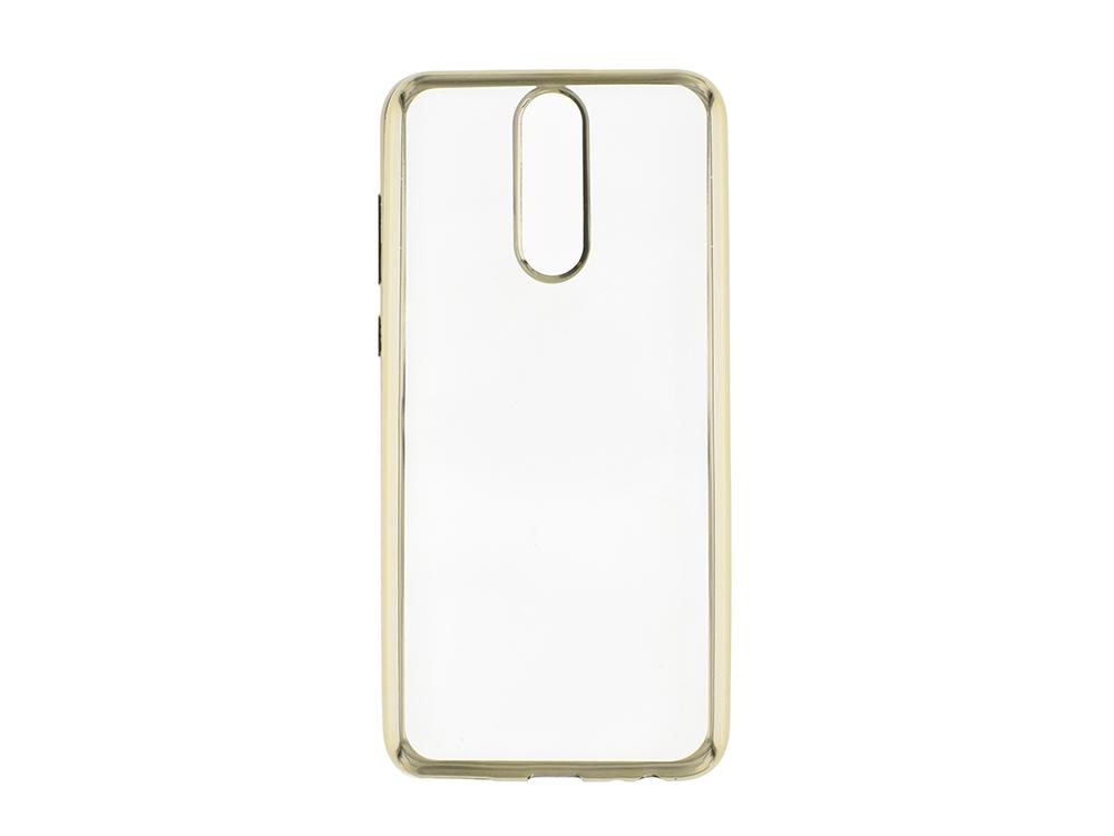 Силиконов гръб с лайсна  CLEAR за Huawei Mate 10 Lite , Златист
