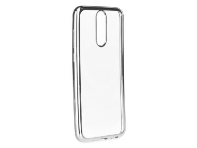 Силиконов гръб с лайсна  CLEAR за Huawei Mate 10 Lite, Сребрист
