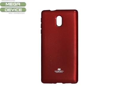 Силиконов гръб Jelly Mercury за Nokia 3 , Червен