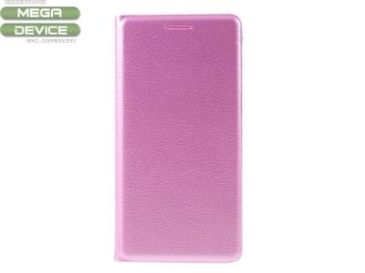 Калъф тефтер Litchi Leather за Samsung Galaxy J3 2016 J320F, Розов