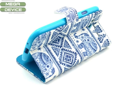 Калъф тефтер Elephant за Samsung Galaxy S3 2014 I9300, Син