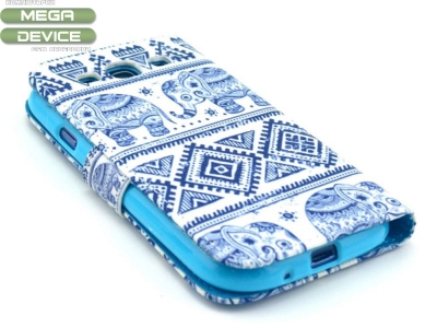 Калъф тефтер Elephant за Samsung Galaxy S3 I9300, Син