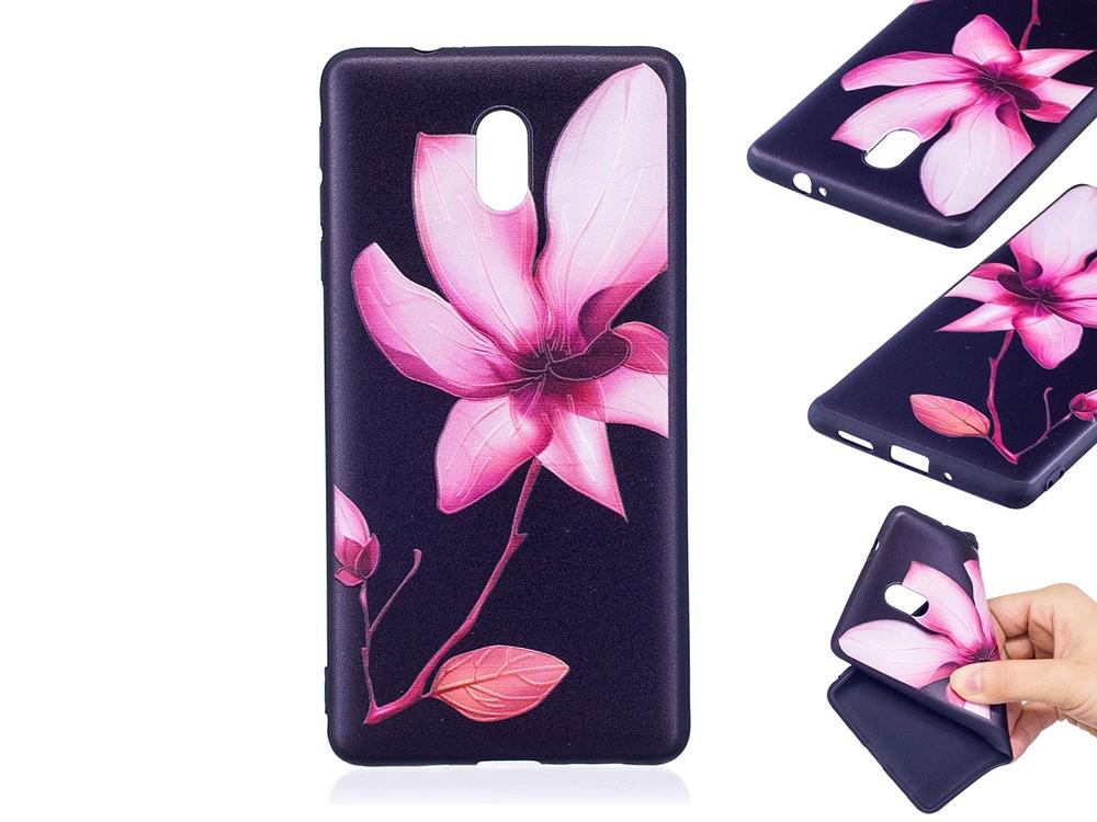 Силиконов гръб за Nokia 3, Розово цвете