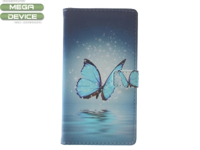 Калъф Тефтер Book за Nokia 3 ,Blue Butterfly