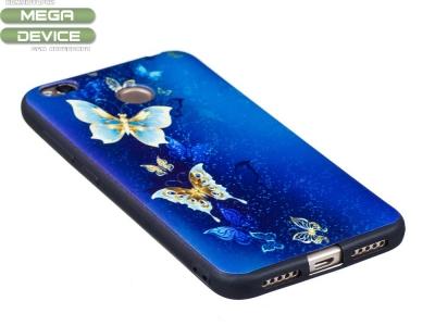 Силиконов гръб за Xiaomi Redmi 4X, Синя пеперуда