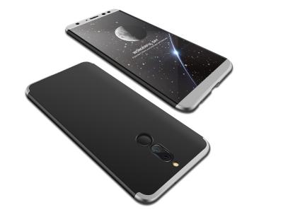 Ултра Тънък пластмасов протектор FULL за Huawei Mate 10 Lite / Maimang 6 / nova 2i / Honor 9i , Черно /Сив