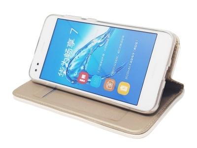 Калъф Тефтер Magnetic BOOK за Huawei P9 lite mini / Y6 Pro (2017) / Enjoy 7, Златист