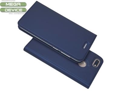 Калъф Тефтер Magnetic BOOK за Huawei P9 lite mini / Y6 Pro (2017) / Enjoy 7, Тъмно син
