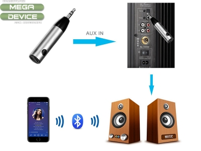 Приемник Audio Bluetooth Jack 3.5 mm AUX Silver