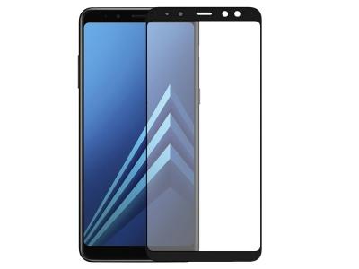 Стъклен протектор Full Curved за Samsung Galaxy A8 2018 A530F , Черен