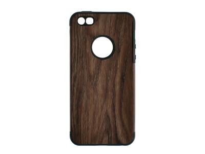 Силиконов Гръб WOOD за Iphone 5/5S/5SE, Тъмно дърво