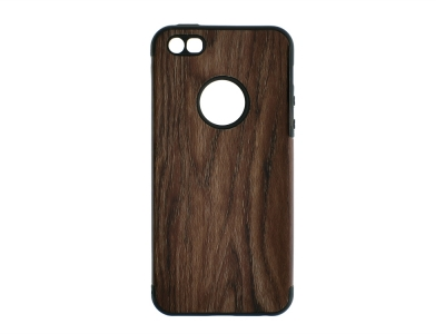 Силиконов Гръб WOOD - Iphone 5/5S/5SE - Dark