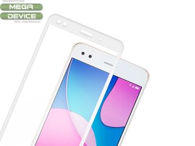 Стъклен протектор 3D Full Curved за Huawei P9 Lite Mini, Бял
