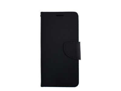 Калъф Тефтер Fancy Book за Motorola Moto X4 (2017) , Черен