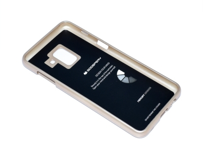 Силиконов гръб Jelly Mercury за Samsung Galaxy A5 2018 / A8 2018 A530 , Златист
