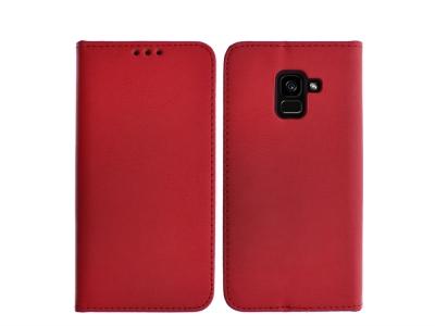 Калъф тефтер SPECIAL ест. кожа за Samsung Galaxy A5 2018 / A8 2018 A530 , Червен