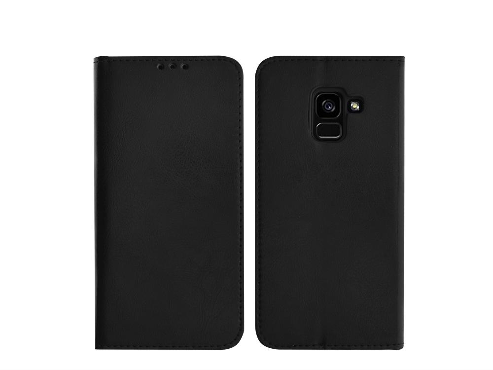 Калъф тефтер SPECIAL ест. кожа за Samsung Galaxy A5 2018 / A8 2018 A530, Черен