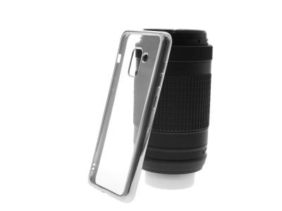 Силиконов гръб с лайсна  CLEAR за Samsung Galaxy A5 2018 / A8 2018 A530, Сребрист