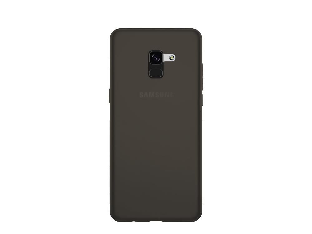 Силиконов гръб за Samsung Galaxy A5 2018 / A8 2018 (A530F) Черен/ Прозрачен