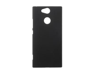 Пластмасов гръб Rubberized за Sony Xperia XA2, Черен
