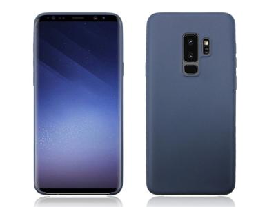 Силиконов матиран гръб за Samsung Galaxy S9 Plus 2018 G965, Тъмно син