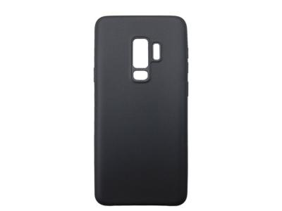 Силиконов матиран гръб за Samsung Galaxy S9 Plus 2018 G965, Черен