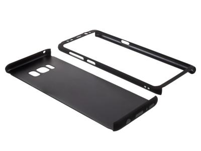 Калъф преден и заден PVC + Скрийн фолио за Samsung Galaxy S8 Plus 2017 G955, Черен
