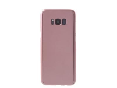 Калъф преден и заден PVC +Фолио за дисплей за Samsung Galaxy S8 Plus 2017 G955, Розов / Златист