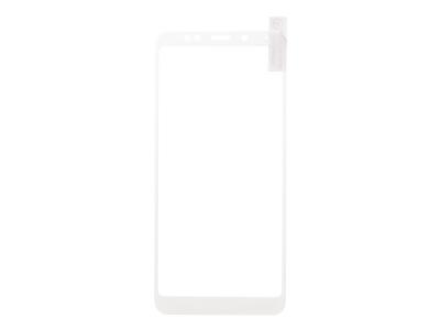 Стъклен Протектор Full за Xiaomi Redmi Note 5 / Redmi 5 Plus, Бял