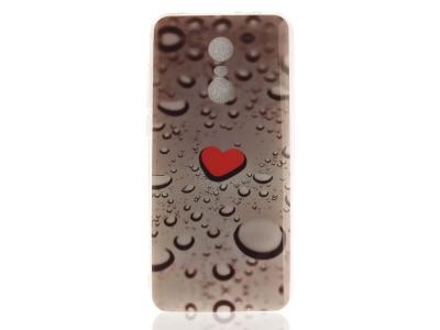 Силиконов гръб за Xiaomi Redmi Note 5 / Redmi 5 Plus, Червено сърце