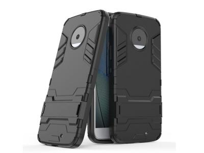 Удароустойчив Калъф с Поставка за Motorola Moto X4, Черен