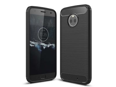 Силиконов гръб Carbon за Motorola Moto X4 , Черен