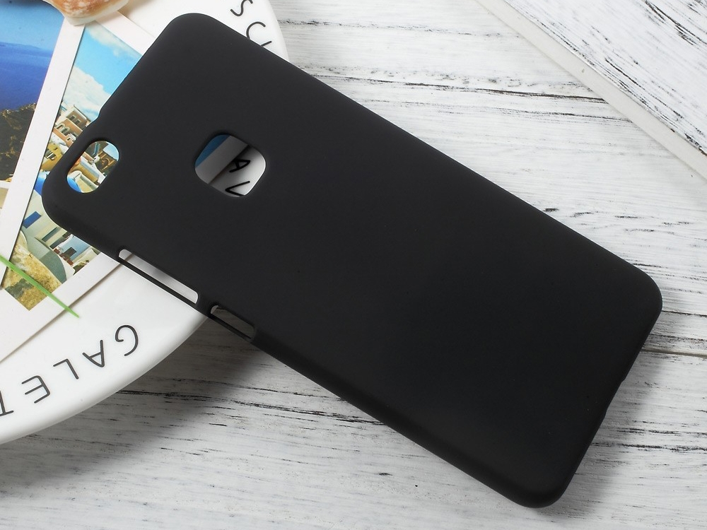 Пластмасов гръб Rubberized за Huawei P10 Lite , Черен