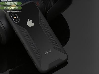 Пластмасов гръб за iPhone X , Черен