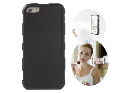 Самозалепващ се силиконов гръб MYFONLO за IPhone 5/5s/SE, Черен