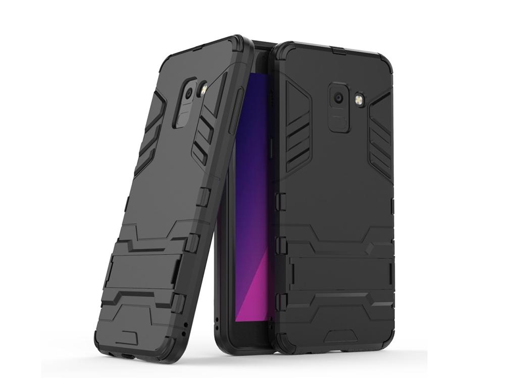 Удароустойчив Калъф с Поставка за Samsung Galaxy A5 2018 / A8 2018 A530, Черен