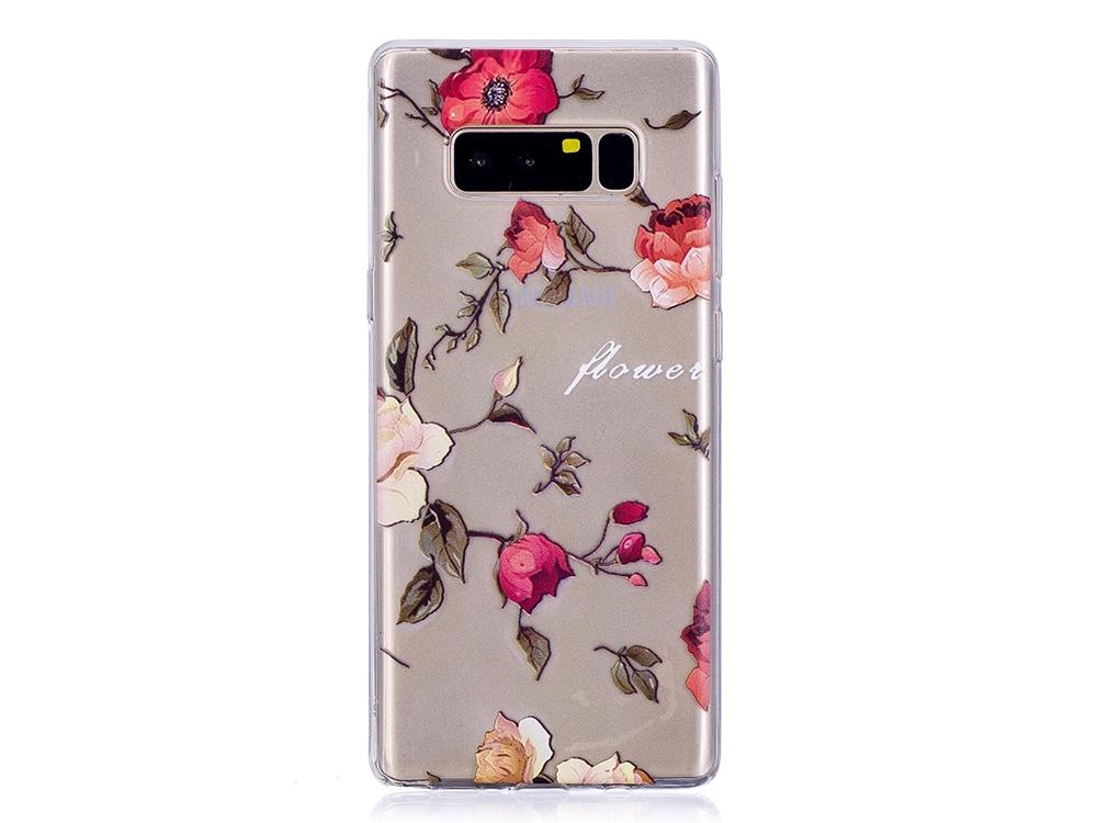 Силиконов Гръб Pattern за Samsung Galaxy Note 8 2017 N950, Цветя