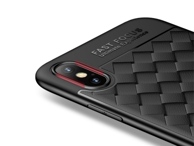 Силиконов гръб USAMS за IPhone X , Черен