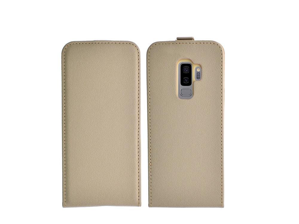 Калъф тефтер Slim Flexy за Samsung Galaxy S9 Plus 2018 (G965), Златист
