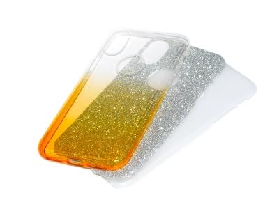 Силиконов Гръб BLING за iPhone X, Златист