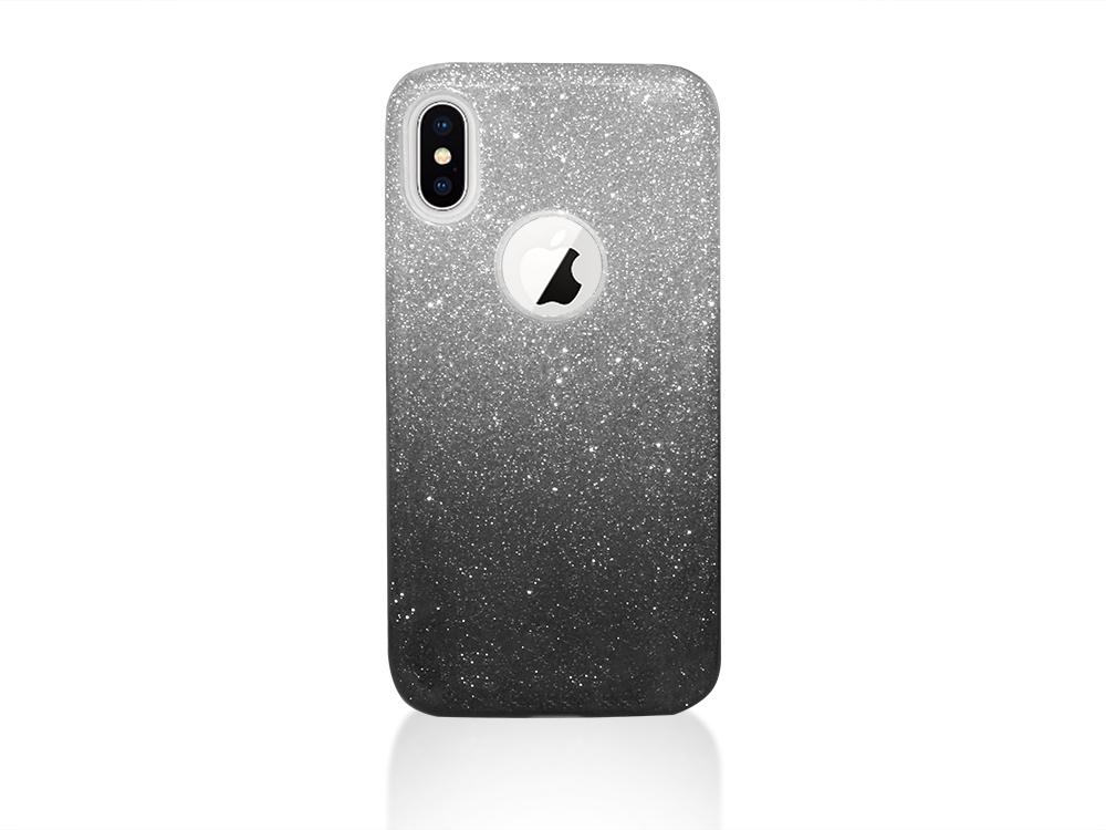Силиконов Гръб BLING за iPhone X , Черен